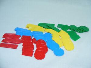 Lot-de-99-jetons-plastiques-4-couleur-jeu-cartes-Belote-Tarot-Nain-Jaune-vinatge