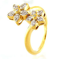 Ring in 585/- Gelbgold mit 17 Diamanten ca 0,12 ct Wesselton vsi Gr. 54