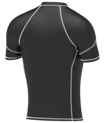 Mens Compression Armour Base Layer Top Half Sleeve Thermal Gym Sports Shirt