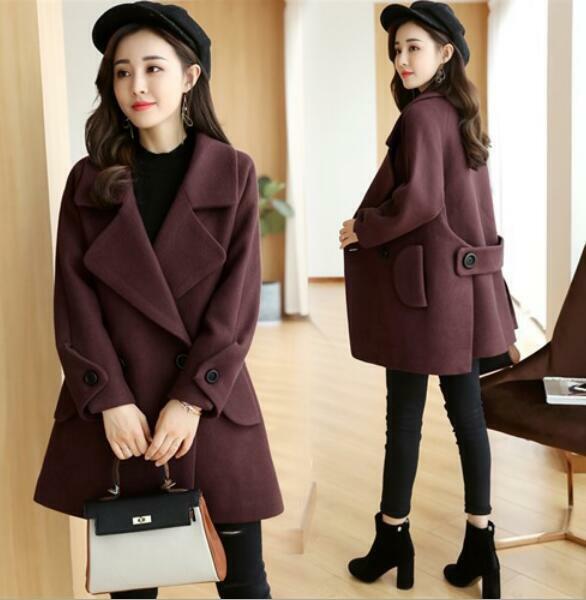 Invierno cálido largo abrigos de lana cashmereloose para  mujer capa Cachemira abrigo chaqueta  echa un vistazo a los más baratos