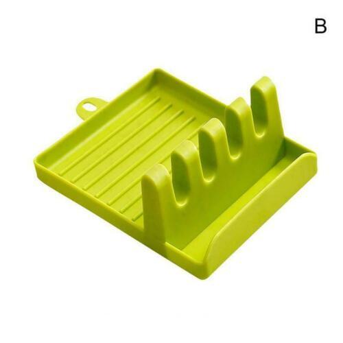 Holder Pot lid Utensil Spoon Rest Heat Resistant Spatula Stand Rack Tool P3F4