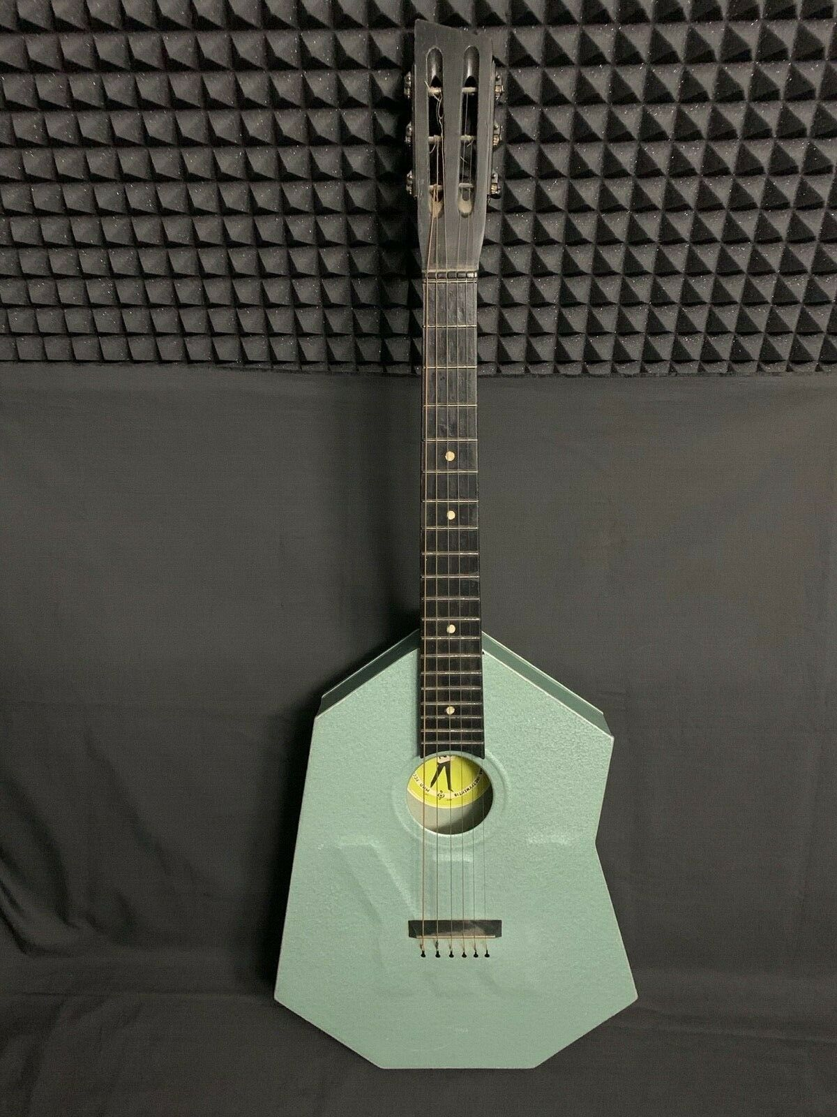 Aluminium Metal Body Stone Acoustic Guitar RARE Soviet Vintage USSR