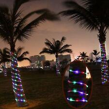 39.4FT 12M 100LEDs Solar Powered Waterproof LED Tube Light LED Fairy String Rope
