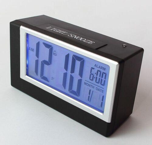 2165 LCD Digitaluhr Wecker Digitalwecker Reisewecker mit Nachtsensor Tischuhr S