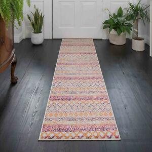 Terra Pink Rugs for Living Room Stylish Tribal Vintage Carpet Runner Rugs Cheap