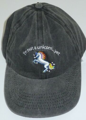 I/'m Not A Unicorn Yet Ball Cap Hat New NWT 100/% Cotton Gray