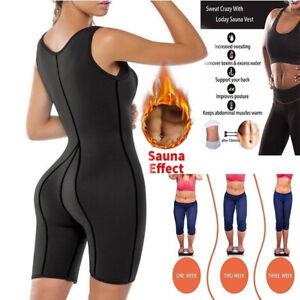 1904c054a4f Image is loading Women-Neoprene-Sauna-Suit-Sports-Sweat-Corset-Jumpsuit-
