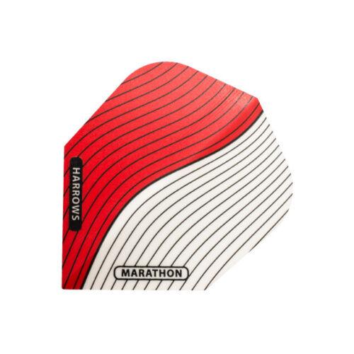 Dart Flights HARROWS MARATHON PRO BRASS Standard Shape EXTRA STRONG Red White
