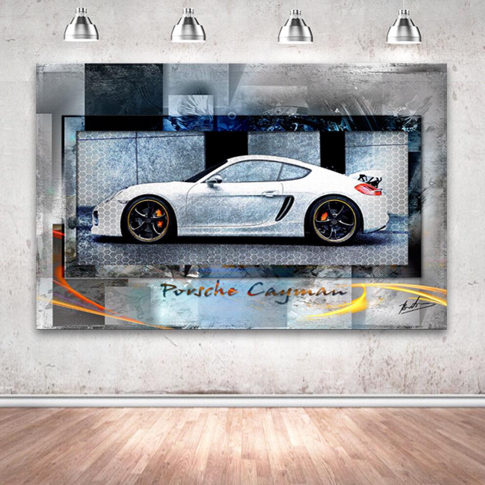 Leinwand Auf Bilder Wandbilder Sportwagen Cayman Porsche