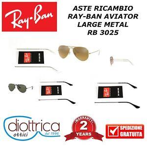 ASTE-RICAMBIO-RAY-BAN-AVIATOR-RB-3025-ORO-ARGENTO-NERE-CANNA-DI-FUCILE-RAYBAN