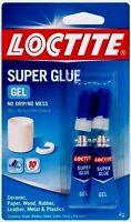 Loctite 2-pk Super Glue Gel Clear 4 Grams Wood Rubber Plastic Metal 1399965