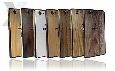 Textured Wood Skin for Sony Xperia Z1 Compact Decal Wrap Cover Protector