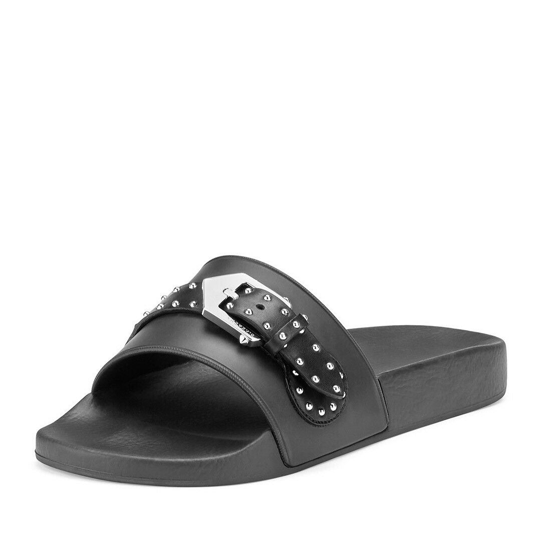 New New New Givenchy Buckle Studded nero Slides Dimensione 39EU 9US  395.00 2018 Style e29467