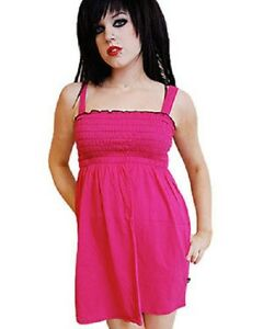 Darkside Clothing Pink Elasticated Bust Tunic Long Line Dress Top Casual