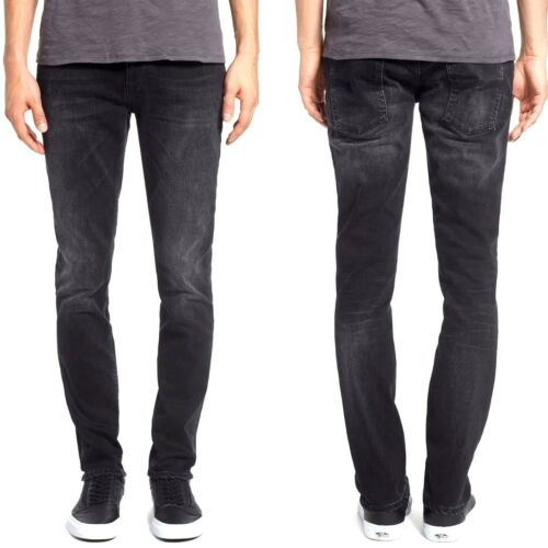 Nudie Men/'s Slim Fit Jeans Trousers Thin Finn Sale Blue Black Stretch