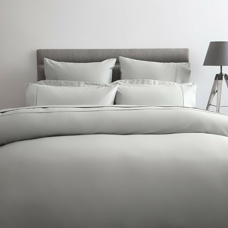 600 Thread Count 100% Cotton Sateen Emperor Bed Größe Flat Sheet in Platinum grau