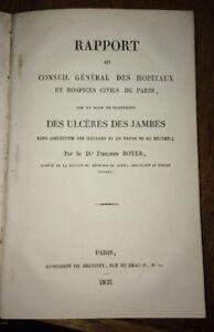 ULCÈRES DES JAMBES.RAPPORT SUR UN MODE DE TRAITEMENT.1831.