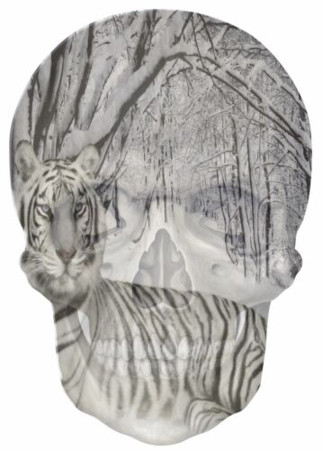 Gothic Skull Double Exposure Snow Tiger View Wall Stickers Mural Wallpaper S18
