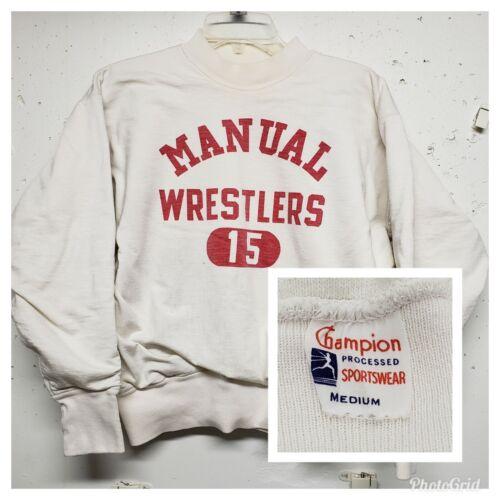 VTG 50s CHAMPION wrestling sweatshirt RARE DOUBLE