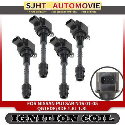 4 x Ignition Coil for Nissan Pulsar N16 1.8L Nissan Almera Primera 1.6L 1.8L