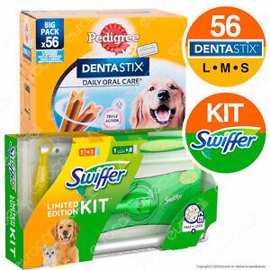 Kit per il Cane Swiffer Catturapolvere e Peli e Pedigree Dentastix Igiene Orale