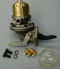 FORD GPW, WILLYS MB, FUEL PUMP C/W CORRECT BRASS UNIONS. BOLTS AND GASKET
