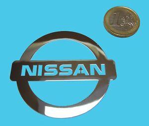 NISSAN METALLIC CHROME EFFECT STICKER LOGO AUFKLEBER 60x53mm