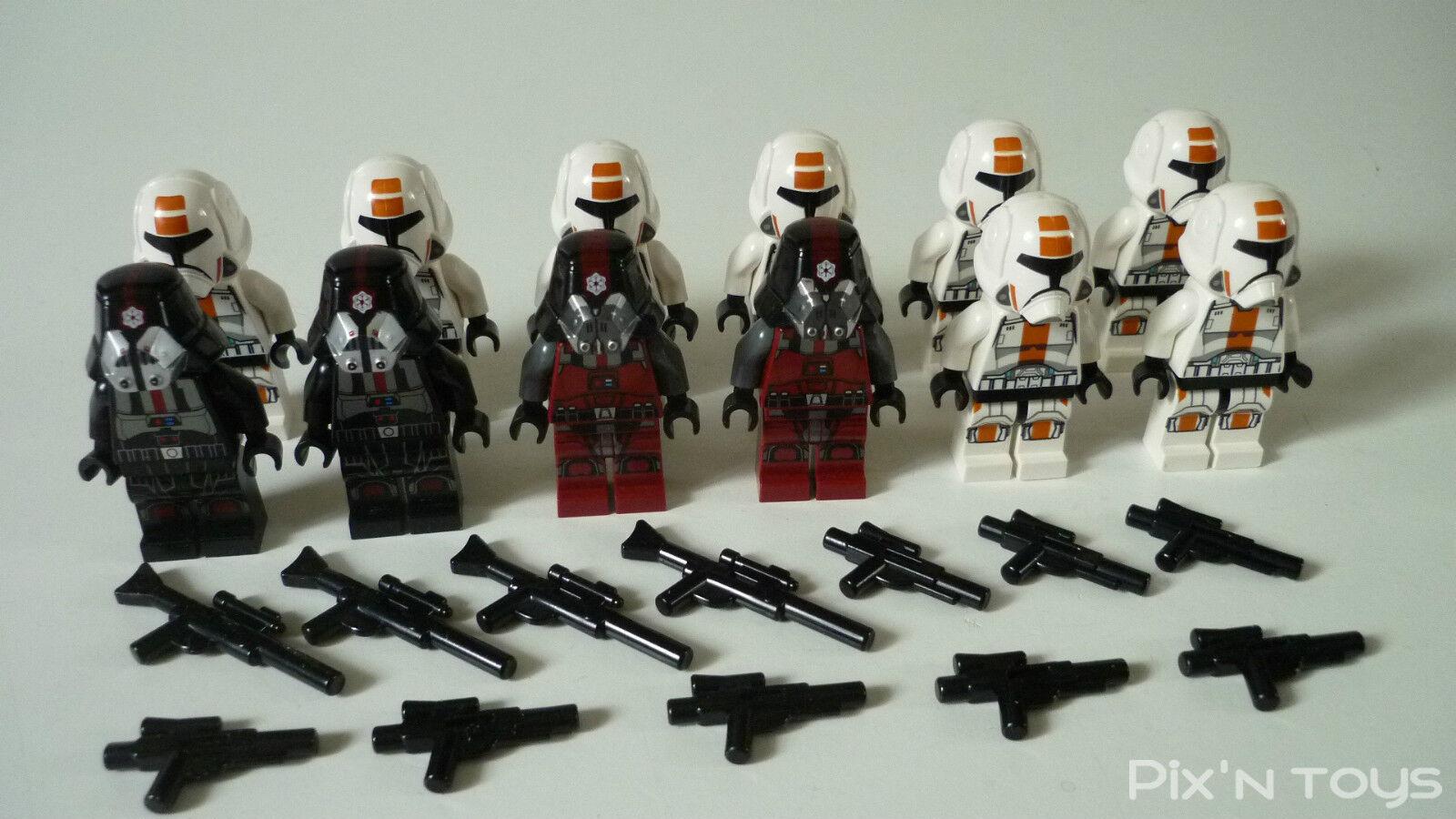 Lego Star Wars   X 12 Minifiguren Republic Trooper - Sith Trooper