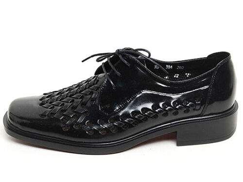 Men/'s cow Leather mesh punching detail Lace Up Oxford square toe shoes 6.5-10.5