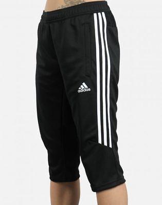 95e2d160f38f Men s Adidas Tiro 17 Three Quarter 3 4 Climacool Soccer Black Pants  BS3705