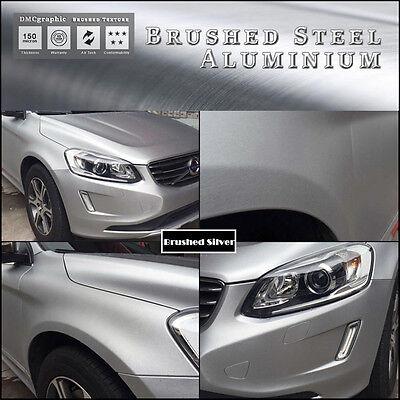 Steel Metal Brush Aluminium Adhesive Vinyl Wrap For Vehicles Dash Trim Furniture