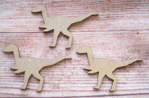 MDF T Rex Dinosaur Laser cut Craft Blank Embellishment Varied Sizes Pack of 5