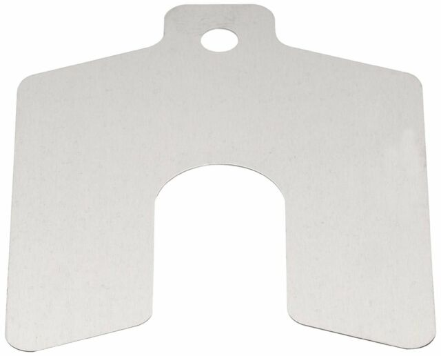 Metric Pack Of 10 1mm Thick Slot Width Stainless Steel Slotted Shim Slot Depth