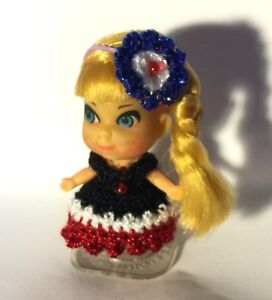 "Handmade Crochet clothes fit vintage Mattel 2/"" LIDDLE KIDDLE DOLL"