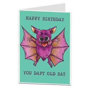 Image Is Loading Funny Birthday Card For Women Daft Old Bat