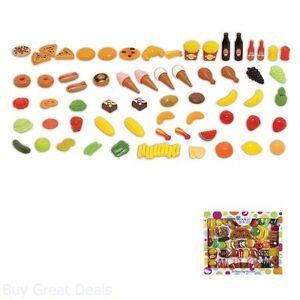 Cookin For Kids Play Food Set 83 Piece Full Experience Kitchen Pretend Ebay