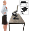 360� adjustable laptop table stand lap sofa bed computer notebook desk w 2 fans
