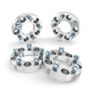 """4pc 32mm Wheel Adapters Spacers Thick 1.25/"""" 5x110 to 5x100-12x1.5 Studs"""