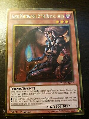 Gold Rare PGL3-EN047 Malebranche of the Burning Abyss Alich 1st Edition