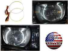 LED Headlights Light Halo Angel Eyes Pair Set Kit Chevy Camaro 2010-2013 - WHITE