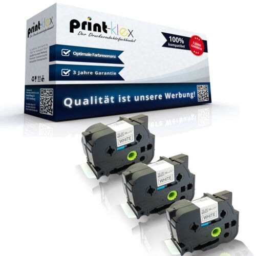 3x Ersatz kompatible Schriftbänder für Brother TZE261 36mm x 8m Band Drucker Pro
