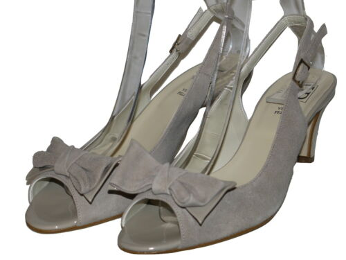 HB Italia Beige Peep Toes Suede Leather Various Sizes SP £79.99