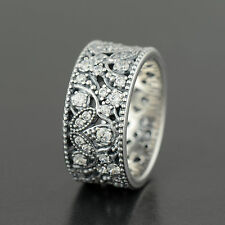 84db71868 Authentic Genuine Pandora Silver Shimmering Leaves Ring - Size 56 - 190965CZ