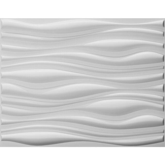 Art3d Paintable 3d Wall Panels Home Decor 24 6 Quot X31 5 Quot White 6 Tiles 32 Sf For Sale