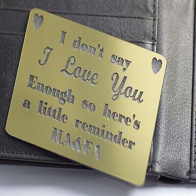Wallet Mens Insert Birthday Gift Husband Boyfriend Engraved Keepsake Present Uk Ebay