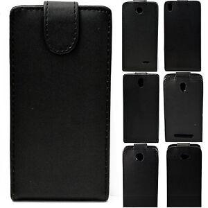 Vertical-Flip-Leather-Black-Hard-Full-Cover-Case-Skin-Holster-For-HTC-Desire