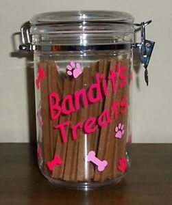 Personalized Adorable Colorful Pet Dog Treat Jar Container Design