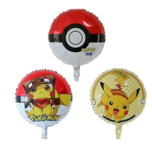 POKEMMON-3-x-Foil-Balloons-Party-Pack-Helium-Birthday-45cm-Balloons-Pikachu