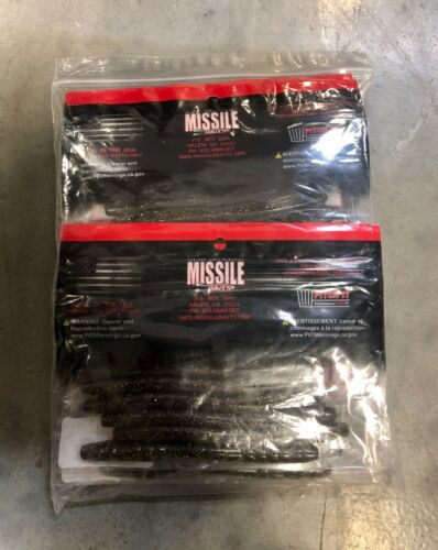 """Missile Baits 48-4.8"""" Senko Style Bait For Bass Fishing LOT OF 6 BAGS"""