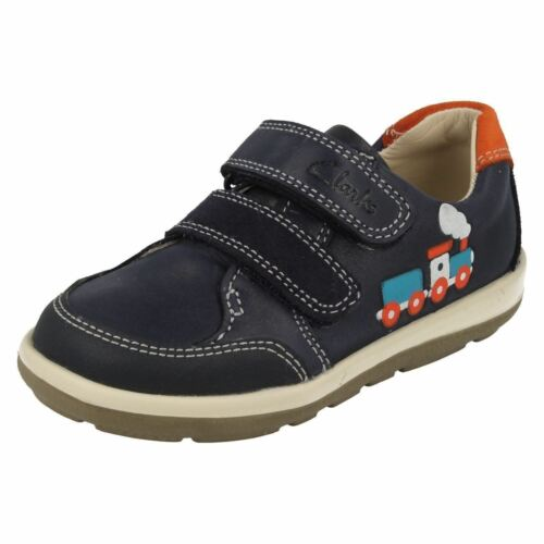 correa doble Navy zapatos azul Tom suavemente First Clarks de Boys Infant qY1S6Y
